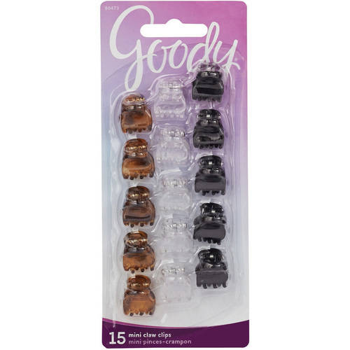 Goody Classics Mini Claw Clips, 15 count