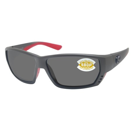 Costa Del Mar tuna alley race gray frame gray 580P polarized plastic lens