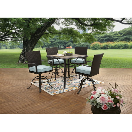 - Better Homes and Gardens Piper Ridge 5-Piece High Patio Outdoor Dining Set