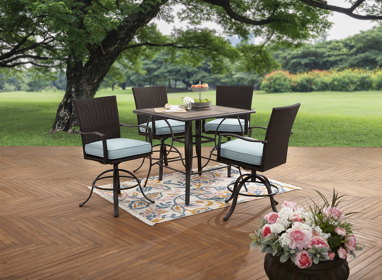 Product Image Better Homes And Gardens Piper Ridge 5 Piece High Patio  Dining Set