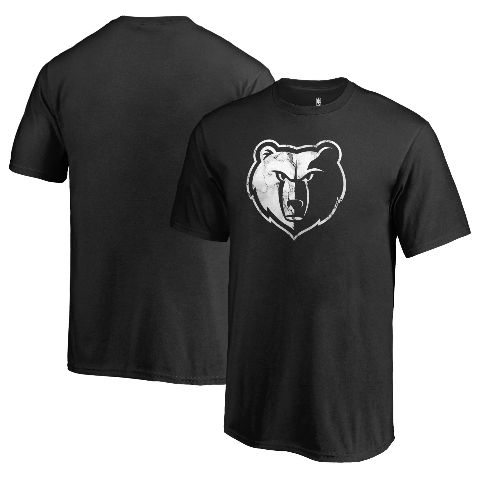 Memphis Grizzlies Fanatics Branded Youth Marble Logo T-Shirt - Black