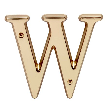 Letter   W   House Letters Solid Bright Brass 4     Renovators Supply