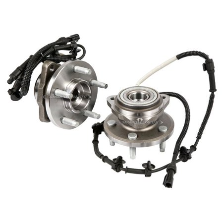 Mid Range Hub (Pair Front Wheel Hub Bearing Assembly For Ford Ranger & Mazda B3000 B4000)