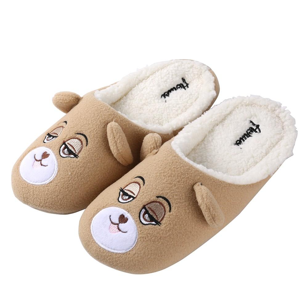 Image of Aerusi Adult Flopsy Teddy Bear Indoor Slippers