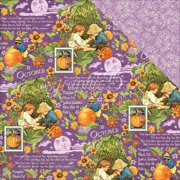 """Children's Hour Double-Sided Cardstock 12""""X12""""-October Montage"""