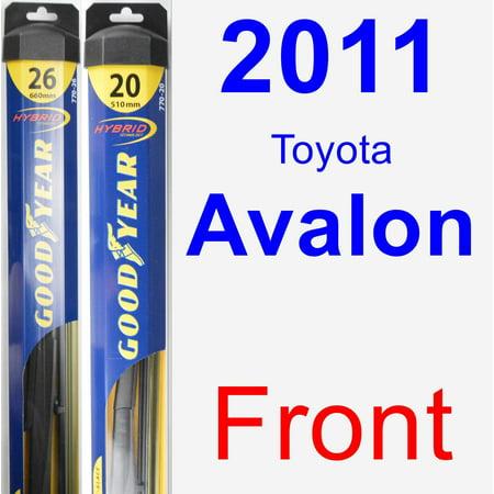 Avalon Wiper (2011 Toyota Avalon Wiper Blade Set/Kit (Front) (2 Blades) - Hybrid )