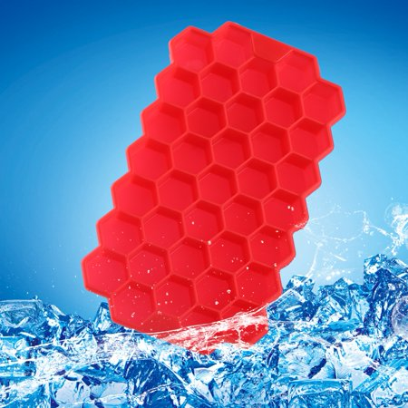 Flexible Silicon Mold - Yosoo Ice Mould,EECOO 1Pc Small Ice Cube Freeze Mold Tray Flexible Silicone 37 Hexagon Shaped Cubes Kitchen Tool New,Ice Mold