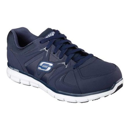 Men's Skechers Work Relaxed Fit Synergy Ekron Alloy Toe Lace Up