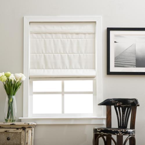 24 x 72 window operable vinyl ivory cordless fabric roman blackout shade 24 72 walmartcom