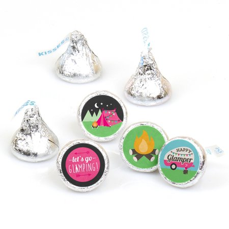 Let's Go Glamping - Camp Glamp Party or Birthday Party Candy Sticker Favors - Labels Fit Hershey's Kisses-108 Ct](Glamping Ideas)