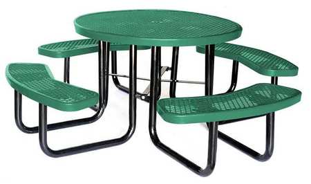 Picnic Table, Green , 4HUP7 by VALUE BRAND