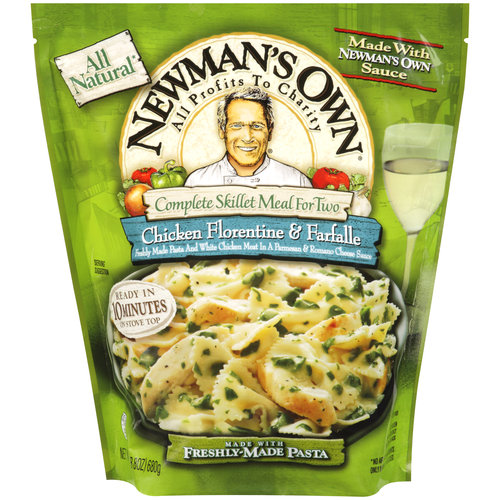 Newman's Own Complete Skillet Meal for Two Chicken Florentine & Farfalle, 24 oz
