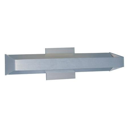 ET2 Alumilux 27-Light LED Wall Mount Satin Aluminum Bright Satin Aluminum Led