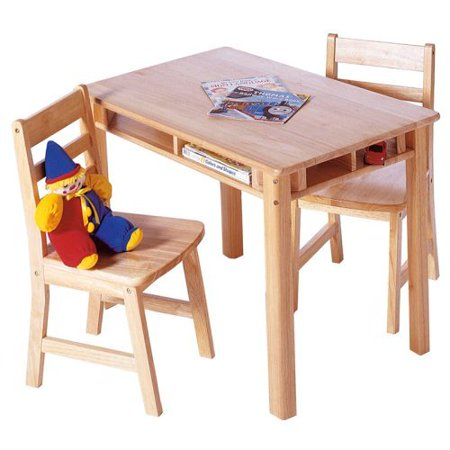 lipper childrens rectangular table and chair set. Black Bedroom Furniture Sets. Home Design Ideas
