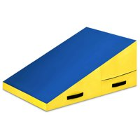 Costway Incline Mat Slope Cheese Gymnastics Gym Exercise Aerobics Tumbling Fitness Wedge