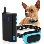 eXuby - Shock Collar for Small Dogs 5-15lbs Rechargeable Waterproof Remote Dog Training Collar with 3 Settings - Beep, Vibration and Static Shock for Faster & Gentle Training