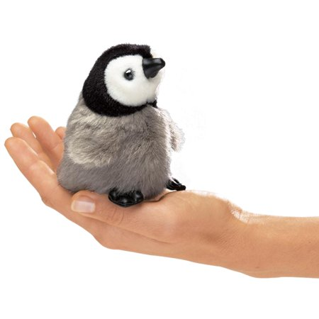 Finger Puppet Mini Baby Emperor Penguin (Other) - Halloween Finger Puppets Printables