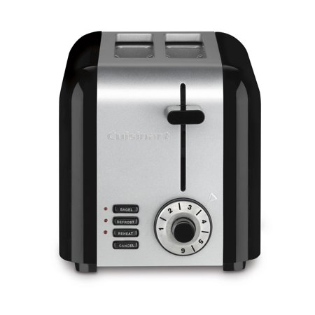 cuisinart 2 slice compact stainless steel toaster black stainless