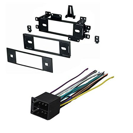 JEEP CHEROKEE COMANCHEE GRAND WAGONEER WRANGLER 1988 1989 1990 1991 1992 1993 1994 1995 1996 CAR STEREO RADIO DASH INSTALLATION MOUNTING KIT W/ WIRING (2003 Jeep Grand Cherokee Engine Wiring Harness)