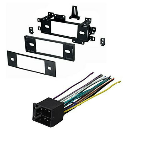 JEEP CHEROKEE COMANCHEE GRAND WAGONEER WRANGLER 1988 1989 1990 1991 1992 1993 1994 1995 1996 CAR STEREO RADIO DASH INSTALLATION MOUNTING KIT W/ WIRING - Jeep Wiring Kit