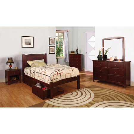 Furniture Of America Hansel Children S Cherry Wood Twin Bed