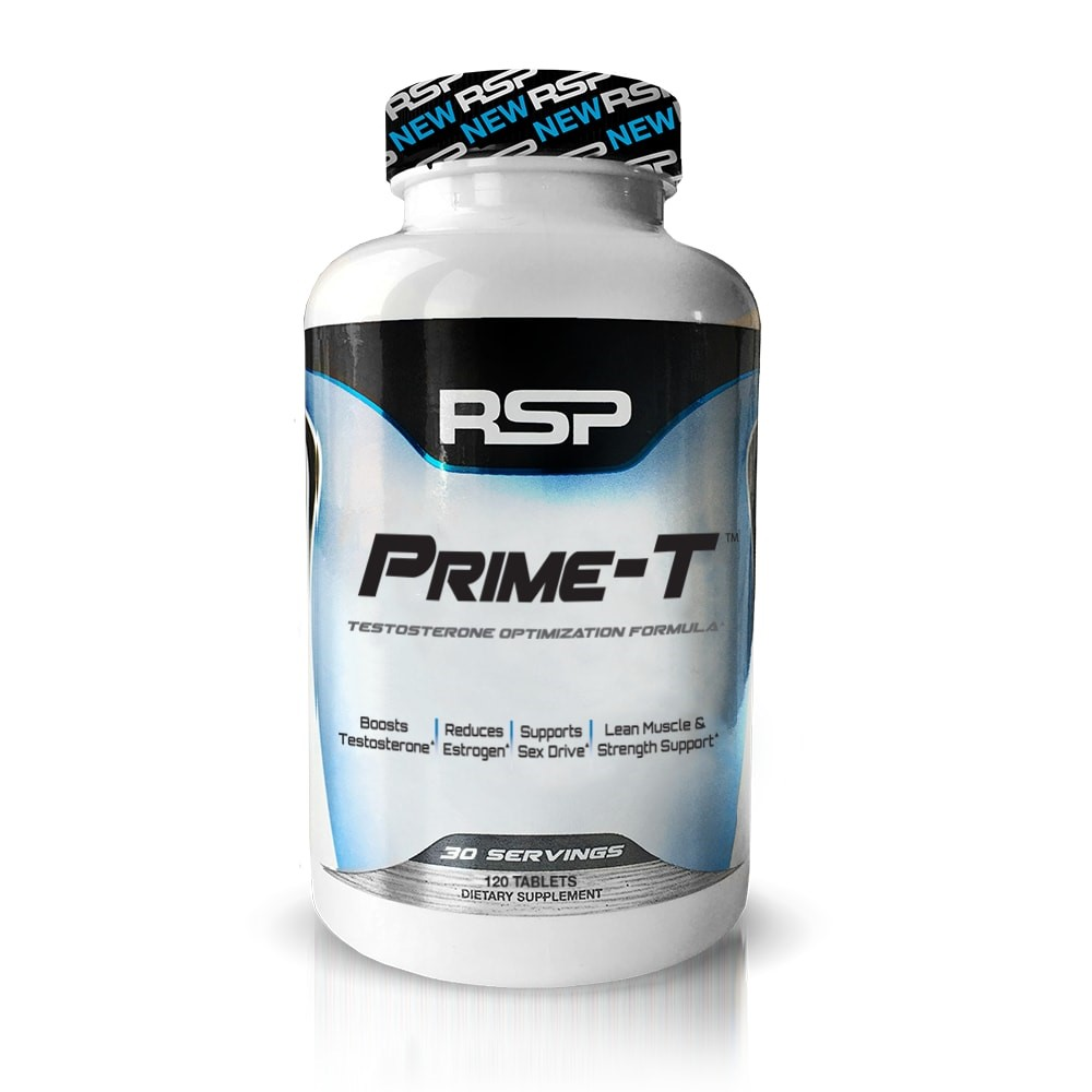 RSP Nutrition Prime-T Testosterone Optimization Tablets, 120 Ct