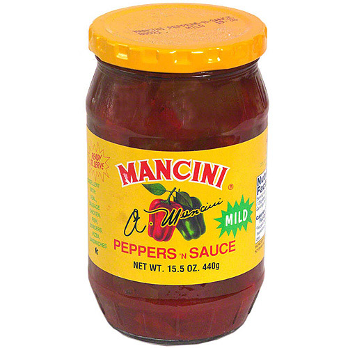 Mancini Mild Peppers N Sauce, 15.5 oz (Pack of 12)