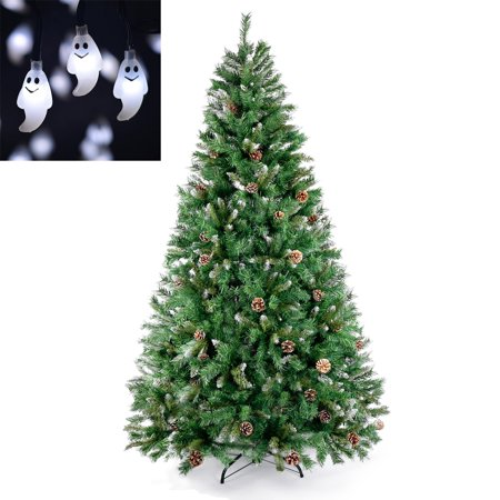 Pine Cone Christmas Tree Artificial PVC Spruce 20 Ghost Lights Christmas Decoration Lights (Ghost Tree)