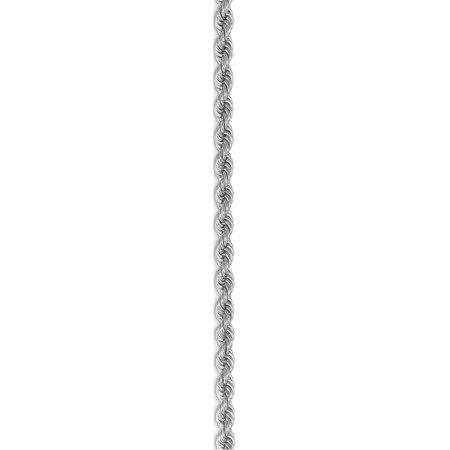 14k White Gold WG 3.25mm Handmade Regular Rope Chain - image 2 of 5