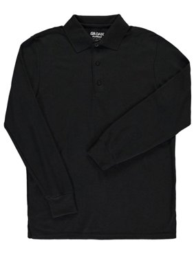 Gildan Men's L/S Cotton Pique Polo (Adult Sizes S - 3XL)