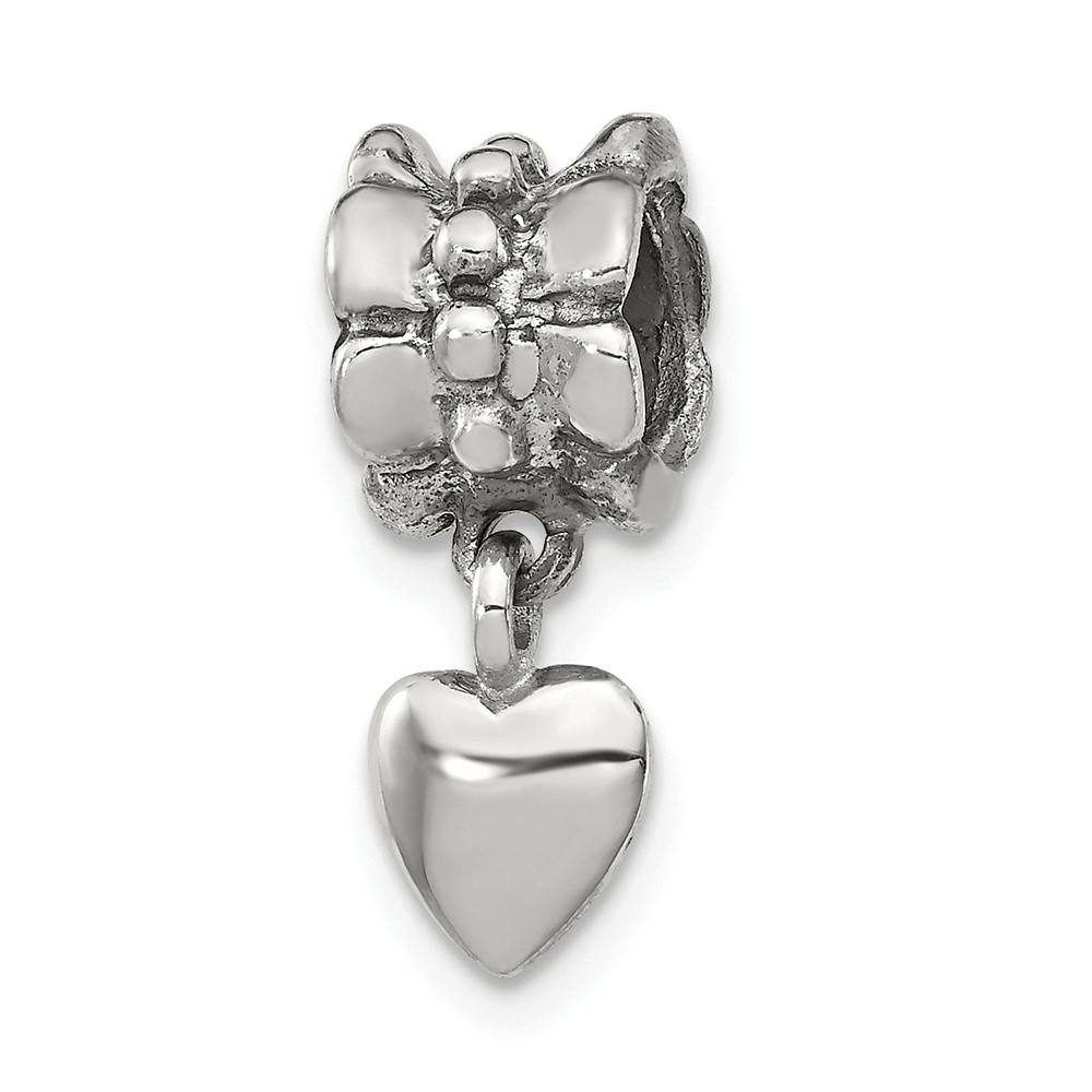 Reflections Sterling Silver SimStars Clasp Bead Necklace
