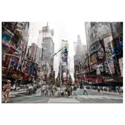 Modern Home Ultra High Resolution Tempered Glass Wall Art - 3D Times Square New York 4