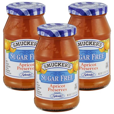 Sugar Free Preserves ((3 Pack) Smucker's Sugar Free Apricot Preserves, 12.75)
