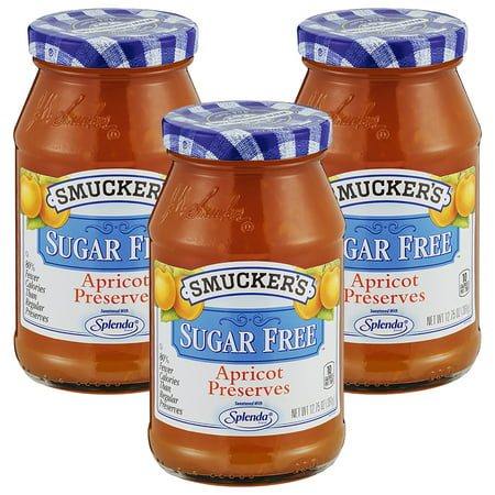 - (3 Pack) Smucker's Sugar Free Apricot Preserves, 12.75 oz