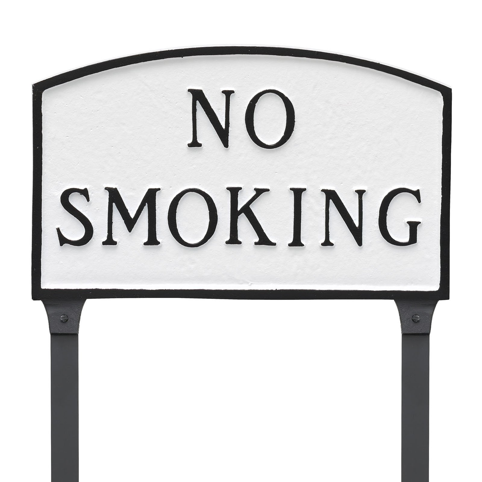 Montague Metal Products No Smoking Arched Lawn Plaque