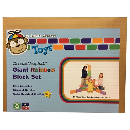 IMAGIBRICKS RAINBOW BLOCKS 24 PC SET