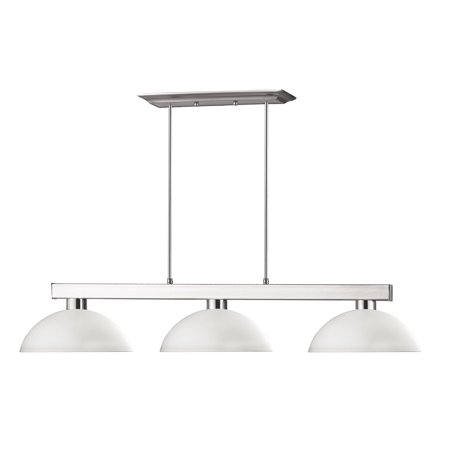 Cobalt 3 Light - New zlite Product  Cobalt Collection 3 Light Billiard Light in Brushed Nickel Finish Sold by VaasuHomes