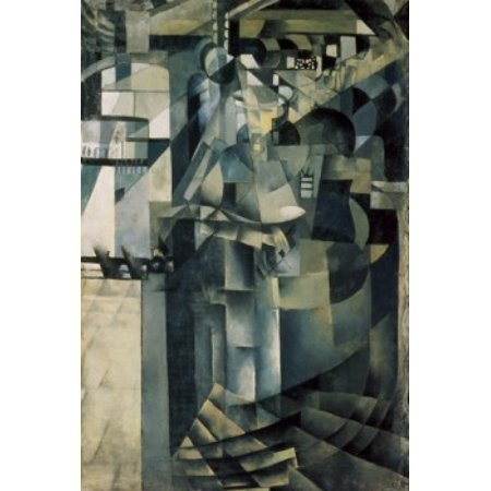 Image of Life in a Big Hotel c 1913-1914 Kasimir Malevich (1878-1935 Russian) Oil on canvas Museum of Art Samara Russia Canvas Art - Kasimir Malevich (18 x 24)