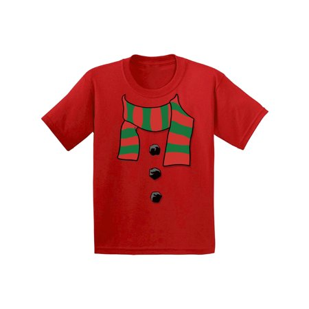 Awkward Styles Snowman Scarf Christmas Shirts for Kids Girls Christmas Boy Christmas Youth Christmas Tee Christmas Gifts for Kids Snowman Scarf Christmas Funny Kid's Christmas Holiday Shirt