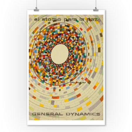 General Dynamics - Solar Dynamics Vintage Poster (artist: Nitsche) Switzerland c. 1956 (9x12 Art Print, Wall Decor Travel (Ship Travel Vintage Poster)