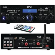 Pyle Home 200-watt Bluetooth Stereo Amp Receiver With Usb & Sd Card Readers
