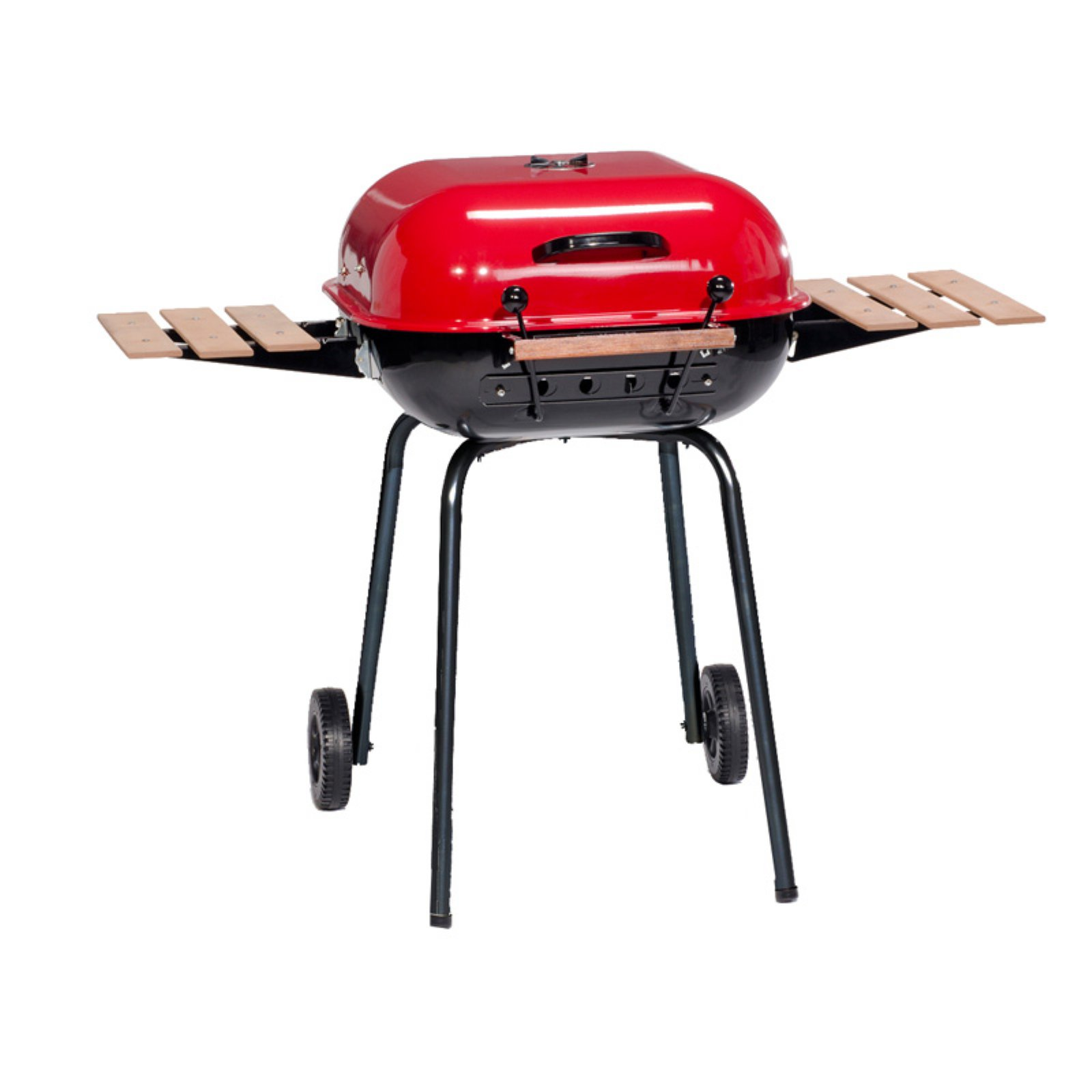 Meco Americana 21 Inch Charcoal Grill With Adjustable Cooking Grate Walmart Com Walmart Com