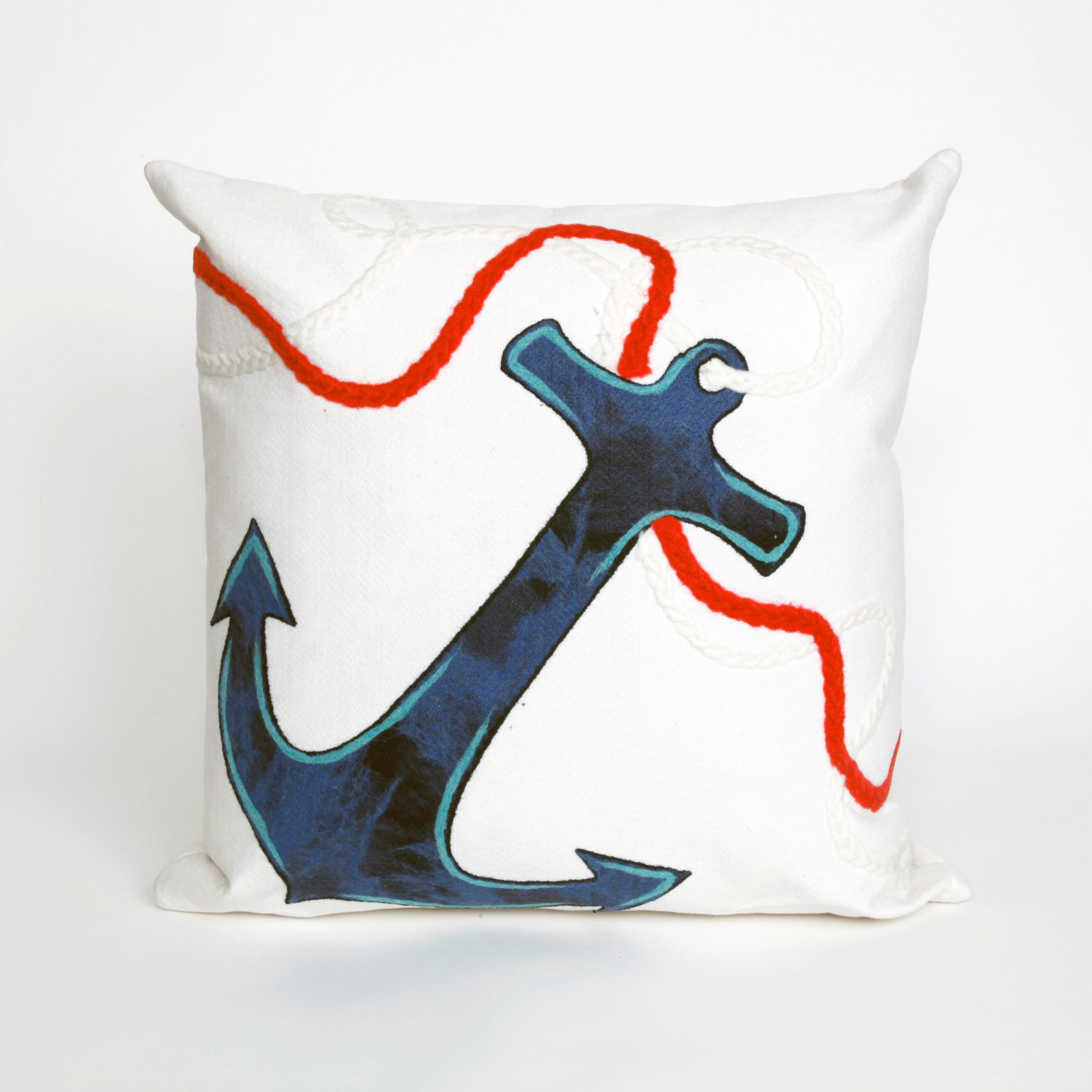 Liora Manne Anchor Indoor / Outdoor Throw Pillow