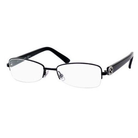 14adbf6764c Womens Eyeglasses 2906 65Z 17 Metal Semi Rimless Black Frames - Walmart.com
