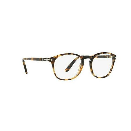 d29aec4cfa Persol Men s PO3007V 1056 52 Square Plastic Clear Eyeglasses - Walmart.com