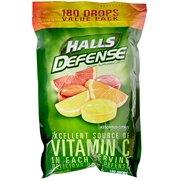 Halls Defense Drops Assorted Citrus, 180 Count