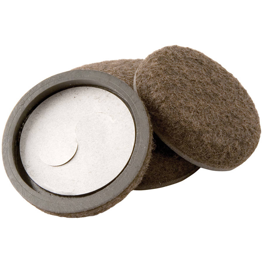"Waxman Consumer Group 4333295N 2"" Self-Stick Felt Bottom Round Furniture Sliders, 4 Count"