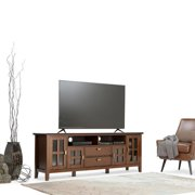 WyndenHall  Stratford Solid Wood 72 inch Wide Contemporary TV Media Stand For TVs up to 80 inches - 72 Inch in width