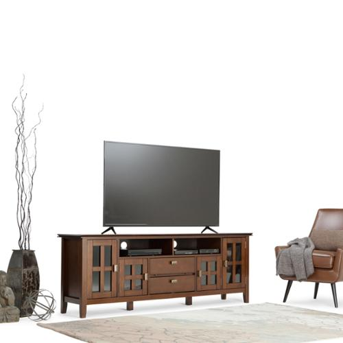 WyndenHall Stratford 72 Inch Wide TV Media Stand For TVu0027s Up To 80 Inches