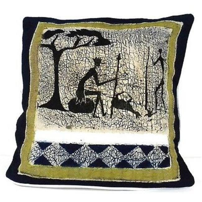 Tonga Textiles Handmade Hunting Batik Cushion Cover